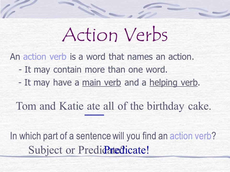 All Action Verbs kicksneakers