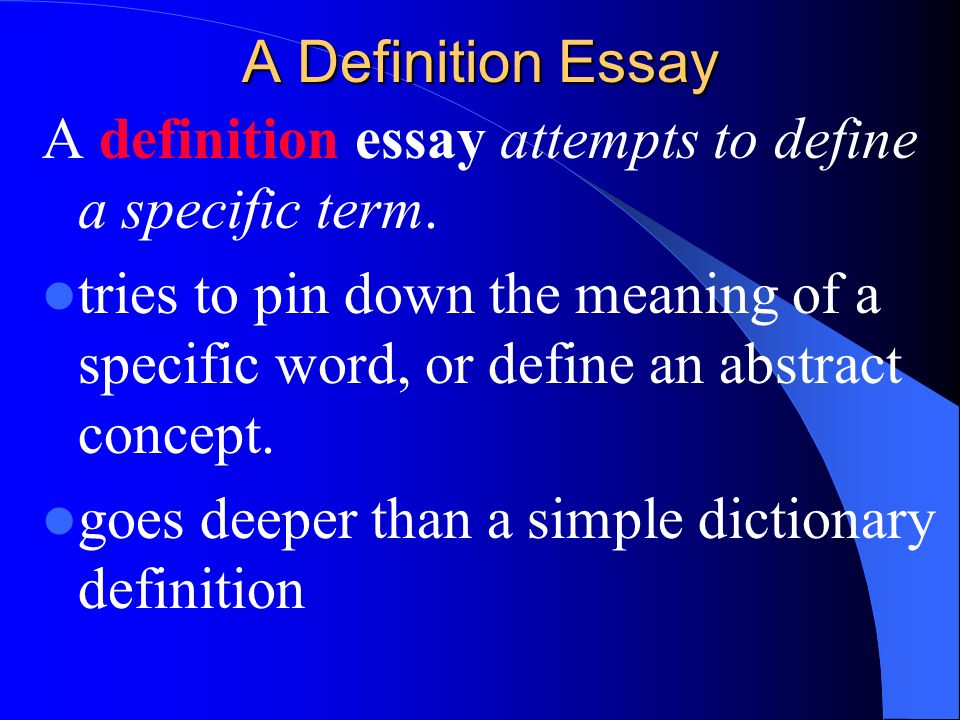 extended definition essay examples
