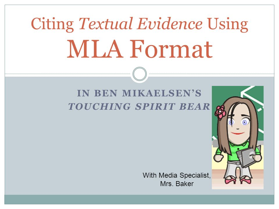 Citing Textual Evidence Using MLA Format - ppt video online download - Mla Format For Citations
