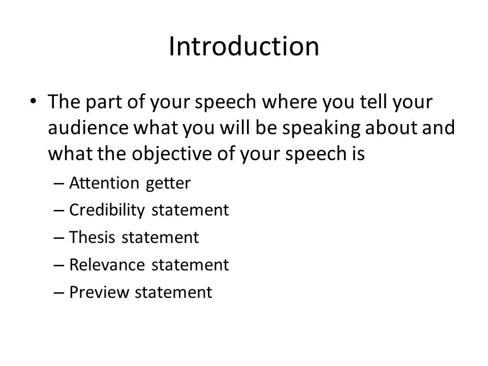 Attention getter for informative speech College paper Academic