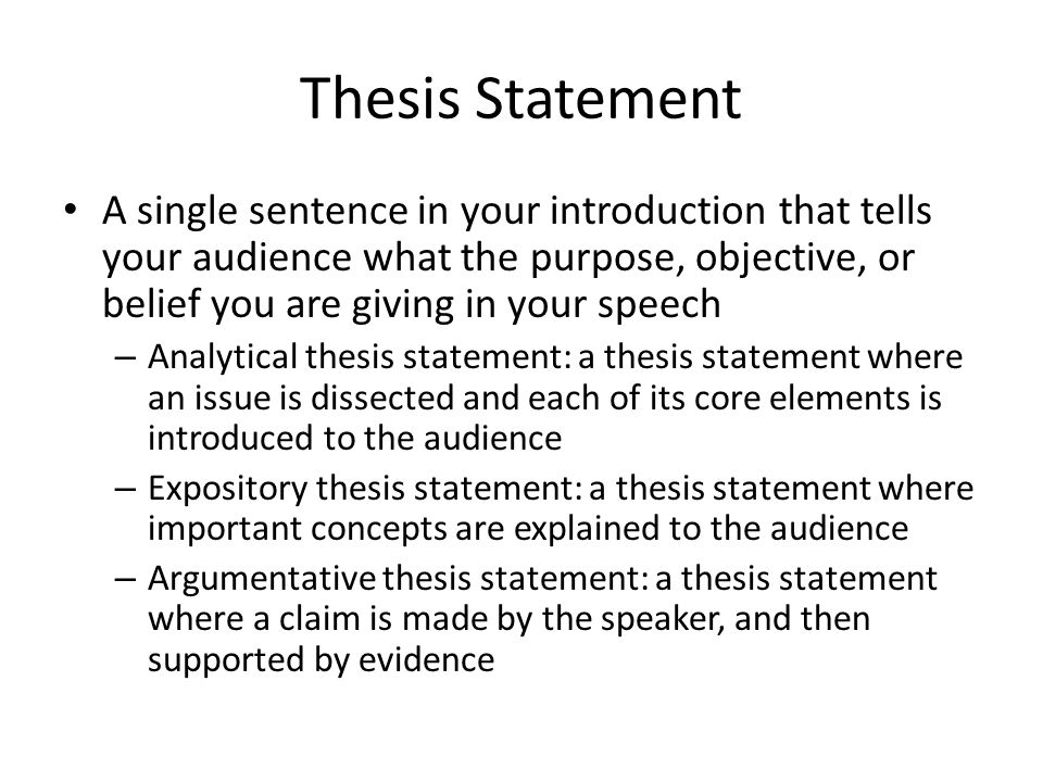 Thesis statement in an informative essay