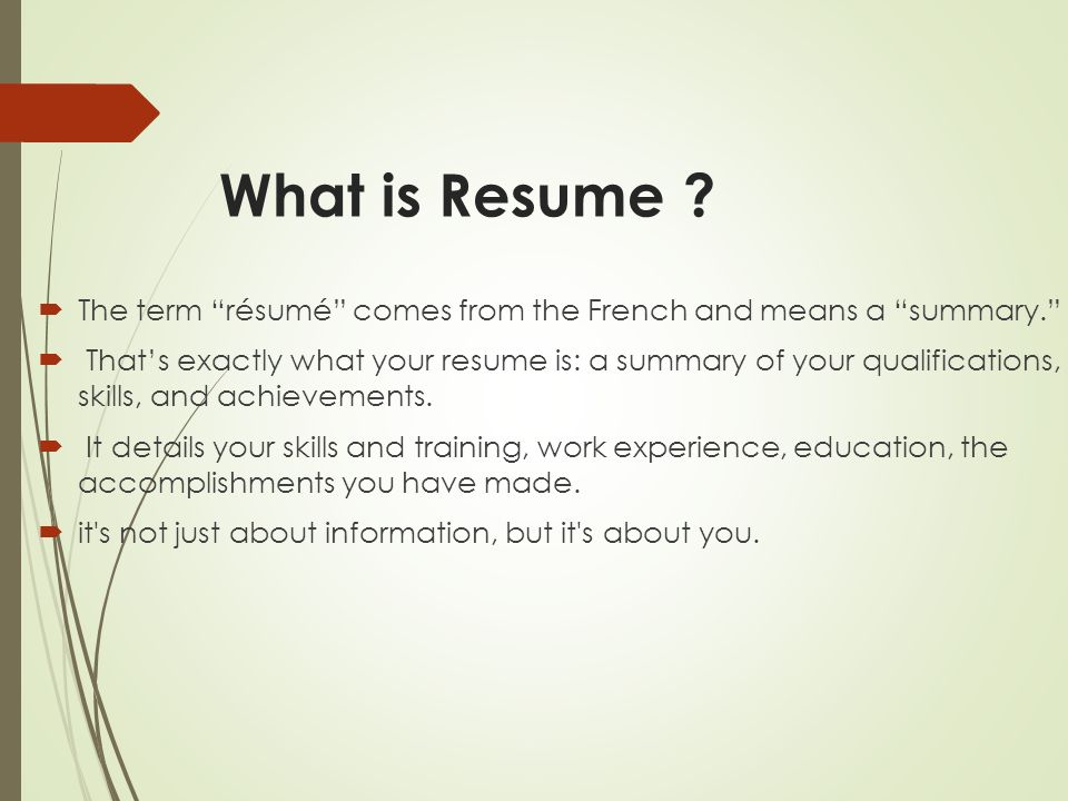 Your way toward professional Resume - ppt video online download - what is a professional resume