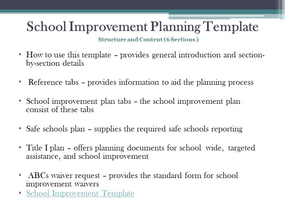 Ffff Lisa Troutman, School Transformation Coach, Eds - Ppt - improvement plan template