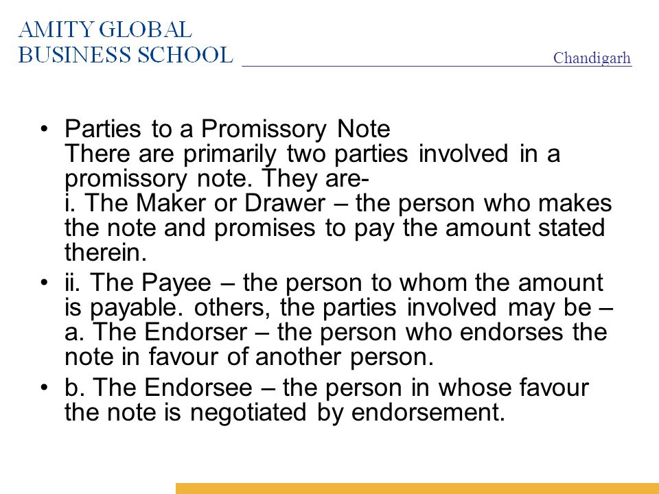 Parties Of Promissory Note - Fiveoutsiders - promissory note parties