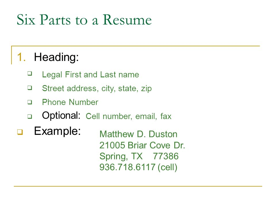 writing a resume ppt download heading for resume writing a resume ppt download heading for resume - Sample Resume Headers Resume Headings Examples