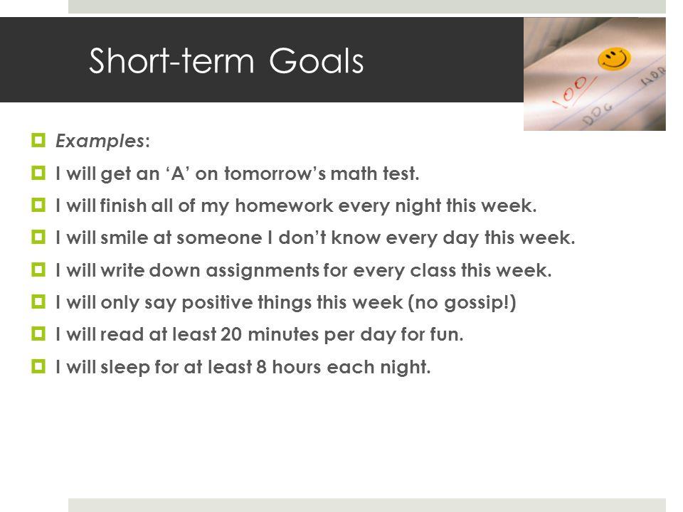 short term career goal hgvi