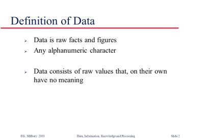 Data, Information, Knowledge and Processing - ppt video online download