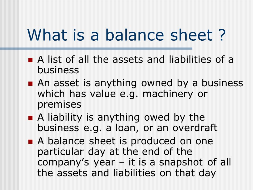 Balance sheets - ppt video online download