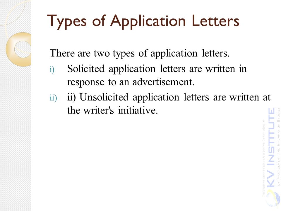 2 kinds of application letter  ishikeduiq - application letters