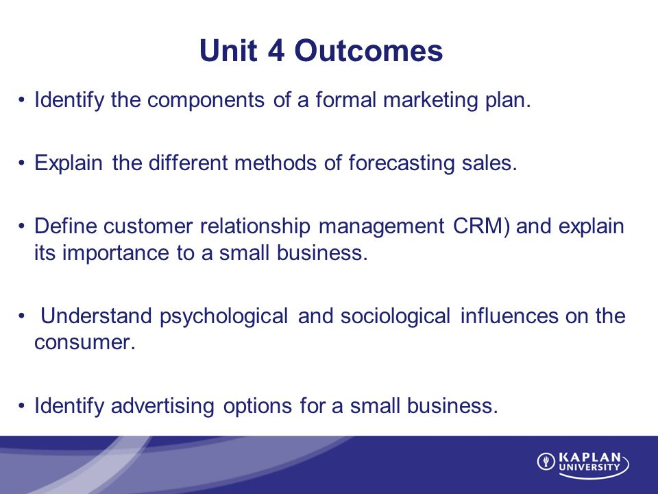 MT209 Small Business Management - ppt video online download - components marketing plan