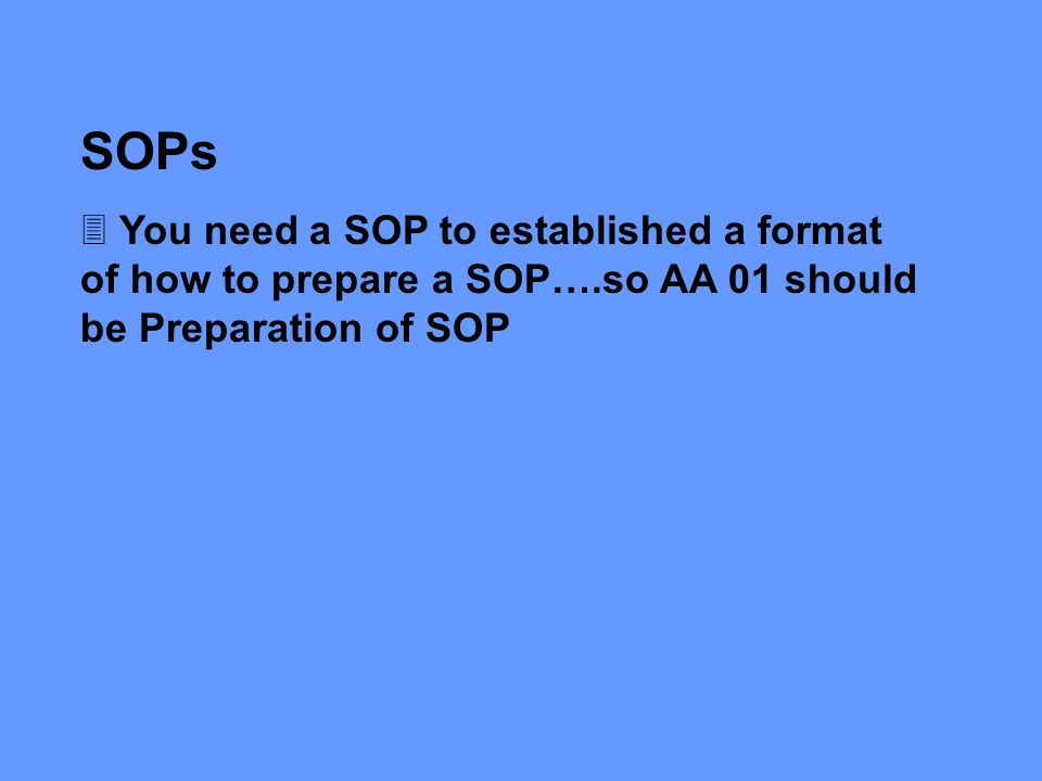 How To Prepare A Sop Format 8+ standard operating procedure