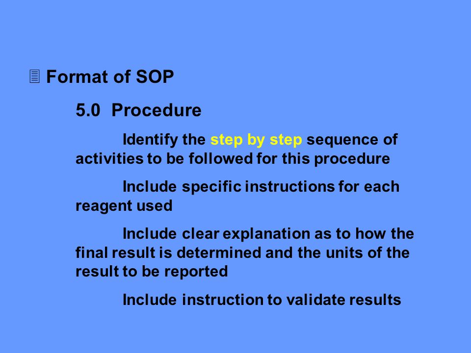 ... Regulatory Issues In Laboratory Management   Ppt Download   Why Sop Is  Used ... Amazing Design