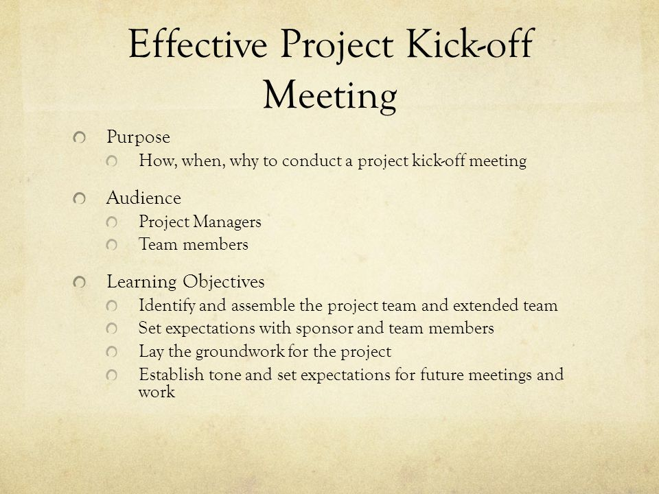 Effective Project Kick-off Meeting - ppt video online download - best of sample invitation kick off meeting