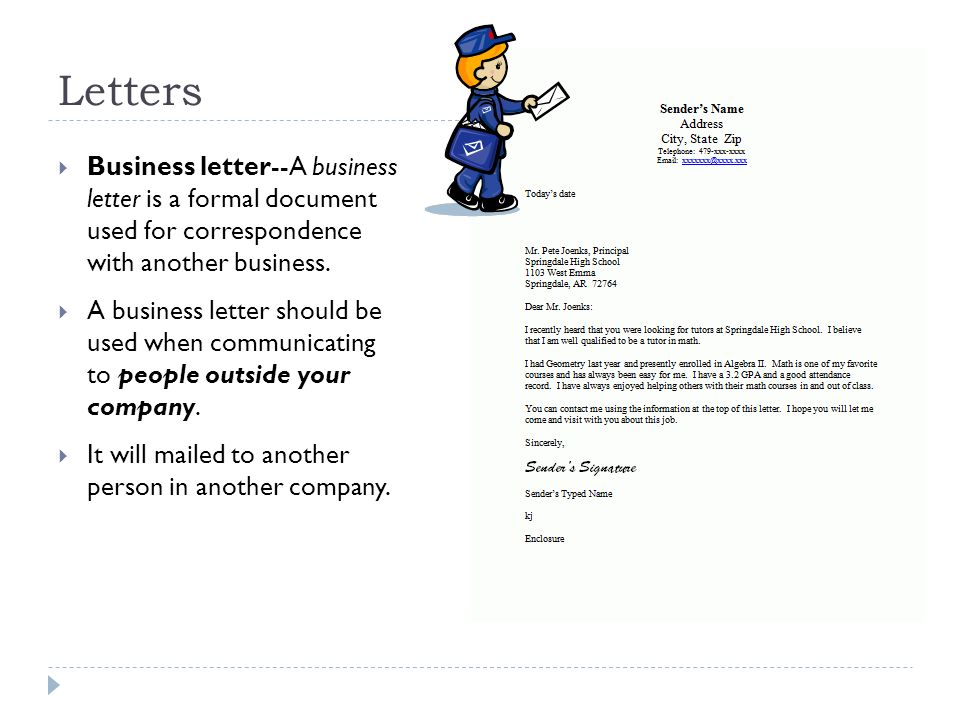 Business Letters \ Memorandums - ppt video online download - company business letter