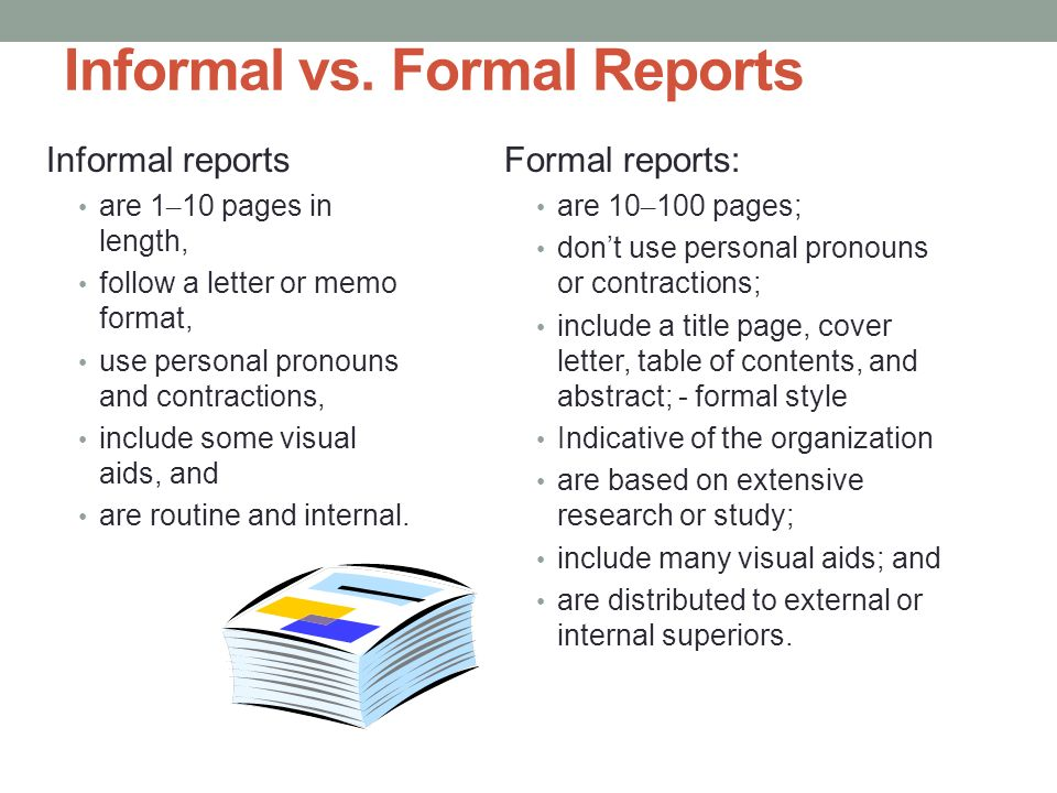 Proposals and Formal Reports - ppt download - informal proposal