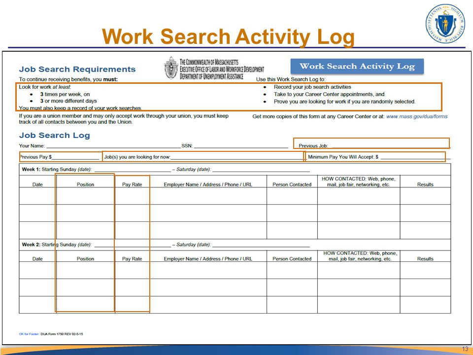 Job Search Log