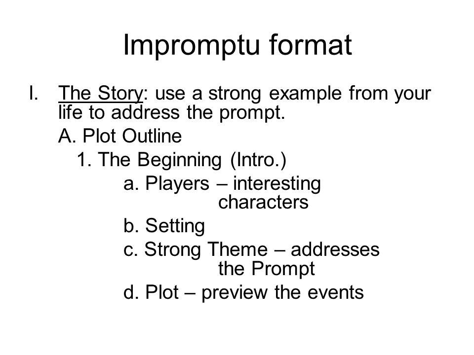 Impromptu Speech Template Persuasive Speech Persuasive Speech - impromptu speech template