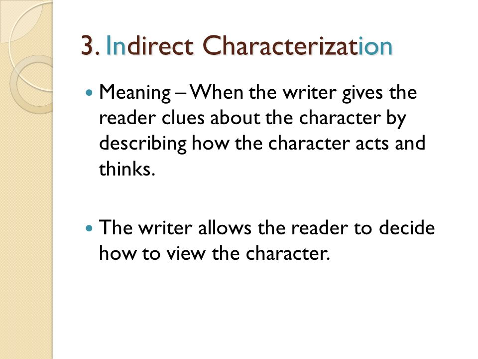 what is indirect characterization radiovkm