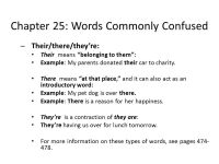 Printable Worksheets  Commonly Confused Words Worksheets ...