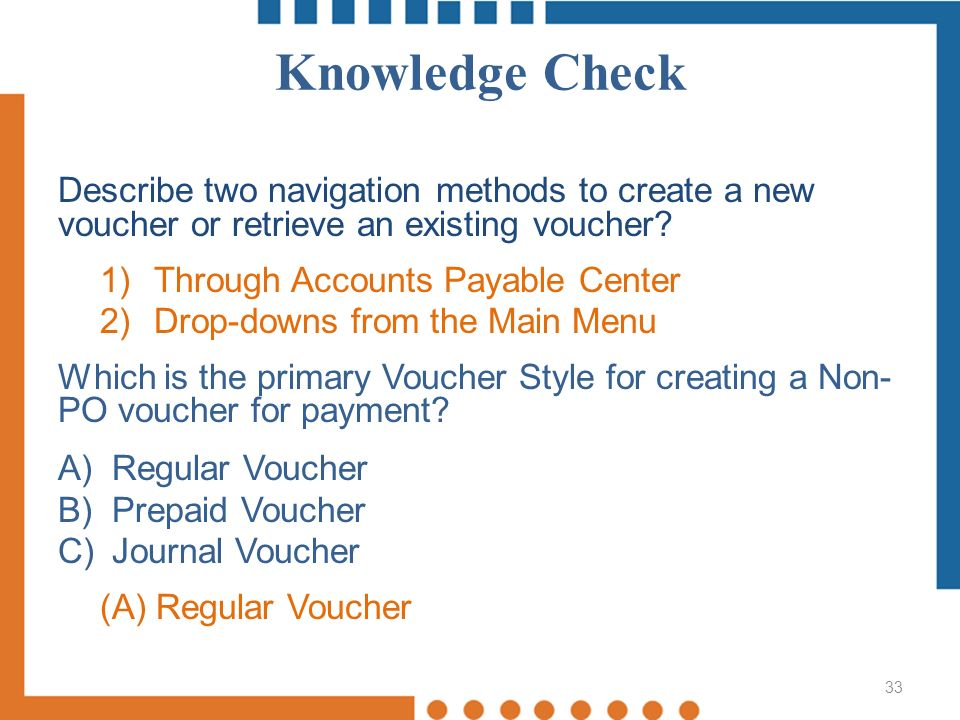 Processing Non-Purchase Order Vouchers - ppt download - creating a voucher