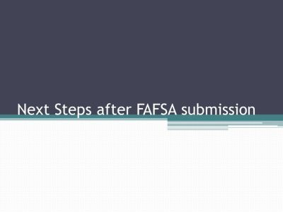 Financial Aid Application Process - ppt video online download