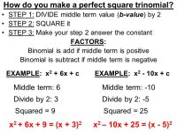 Factoring Perfect Square Trinomials Worksheet - wiildcreative