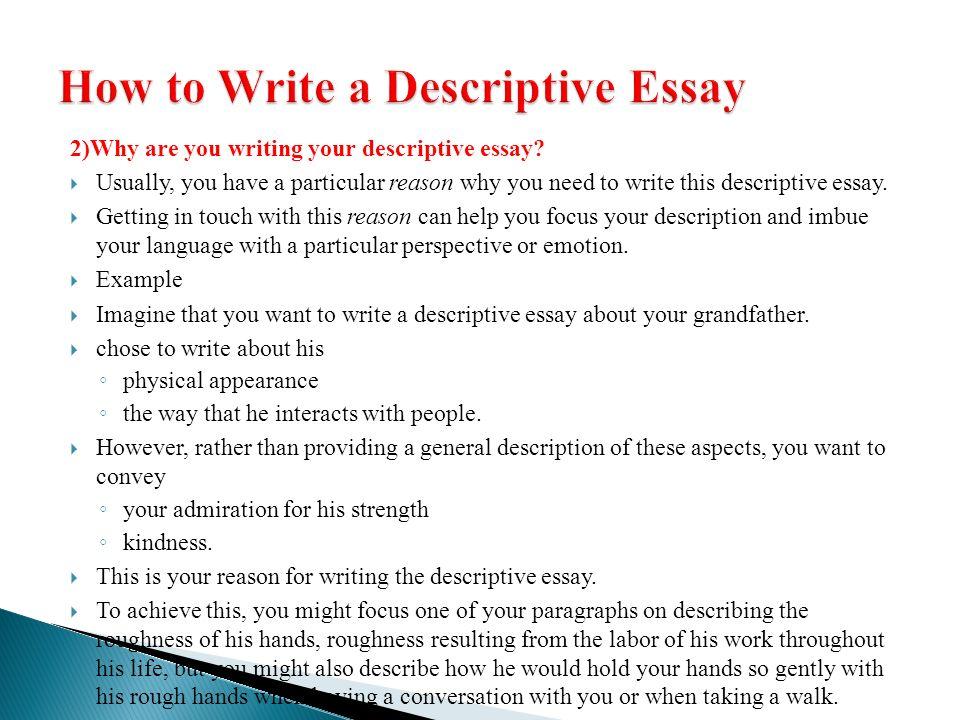 descriptive essay ocean descriptive writing ppt video online thesis