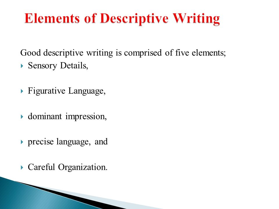 good descriptive essays descriptive writing ppt video online example - elements of a good resume