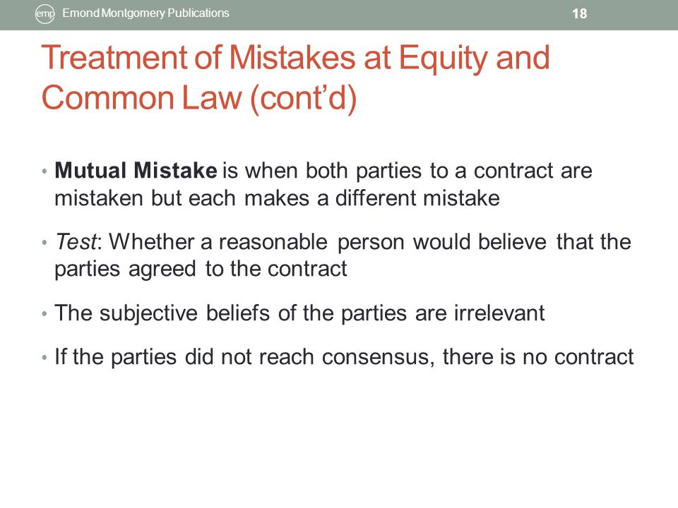 Chapter 5 ConTRACTUAL DEFECTS - ppt video online download - mutual consensus