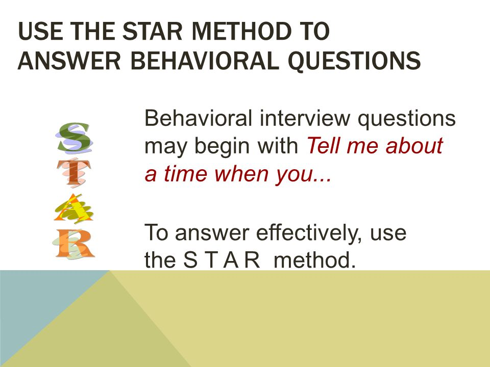 Use The STAR Technique to Ace Your Behavioral Interview - mandegarinfo