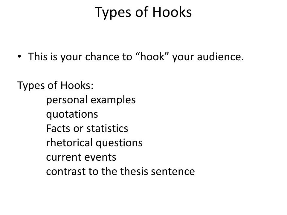 types of hooks for essays template