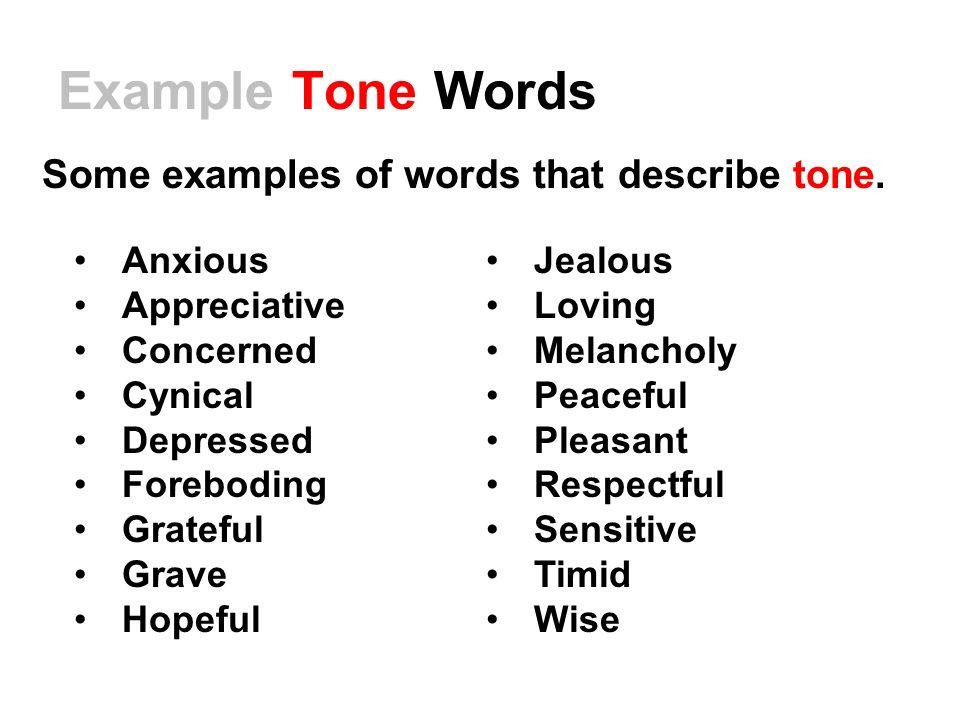 examples of tone - Jolivibramusic