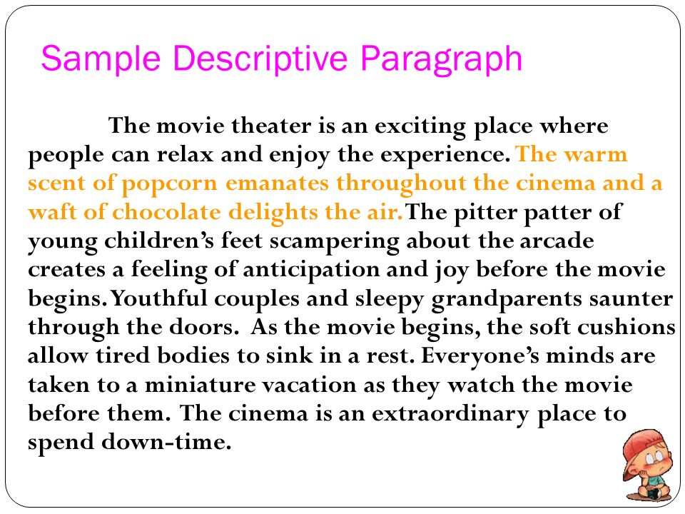 Descriptive essay paragraph write Custom paper Service