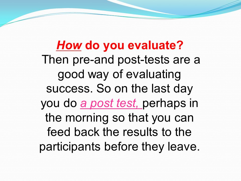 how to evaluate success