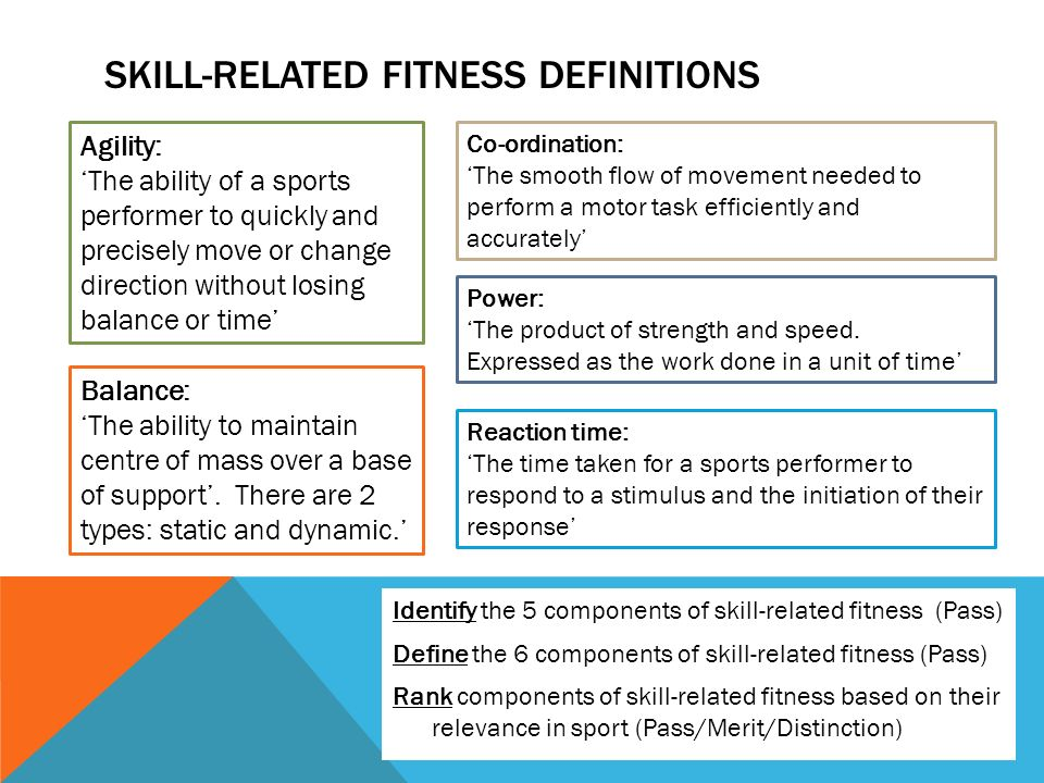 6 components of skill related fitness Fitness and Workout - components of fitness