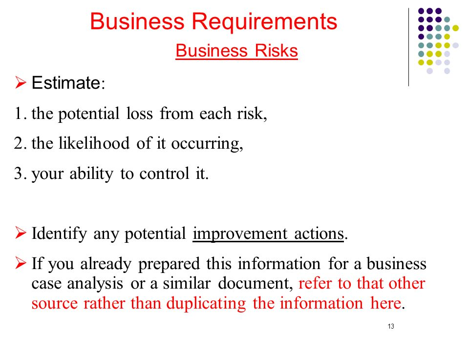 Outlines Overview Defining the Vision Through Business - business requirement documents