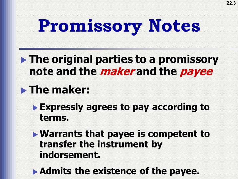 Attractive Parties Of Promissory Note Vignette - Administrative - parties of promissory note