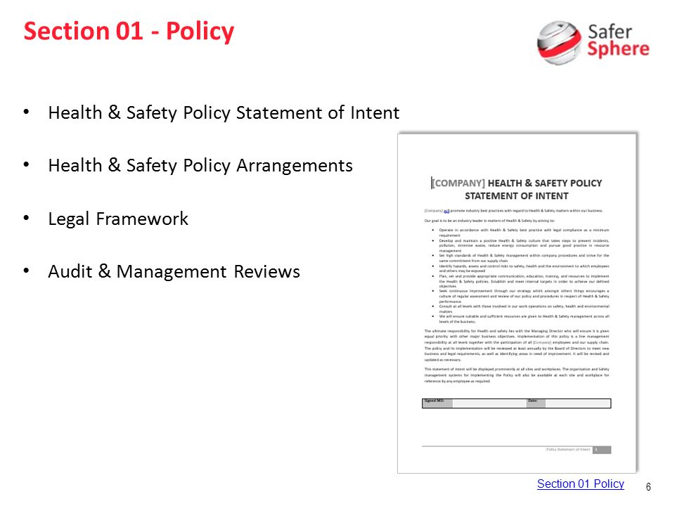 Famous Safety Statement Template Ideas - Administrative Officer