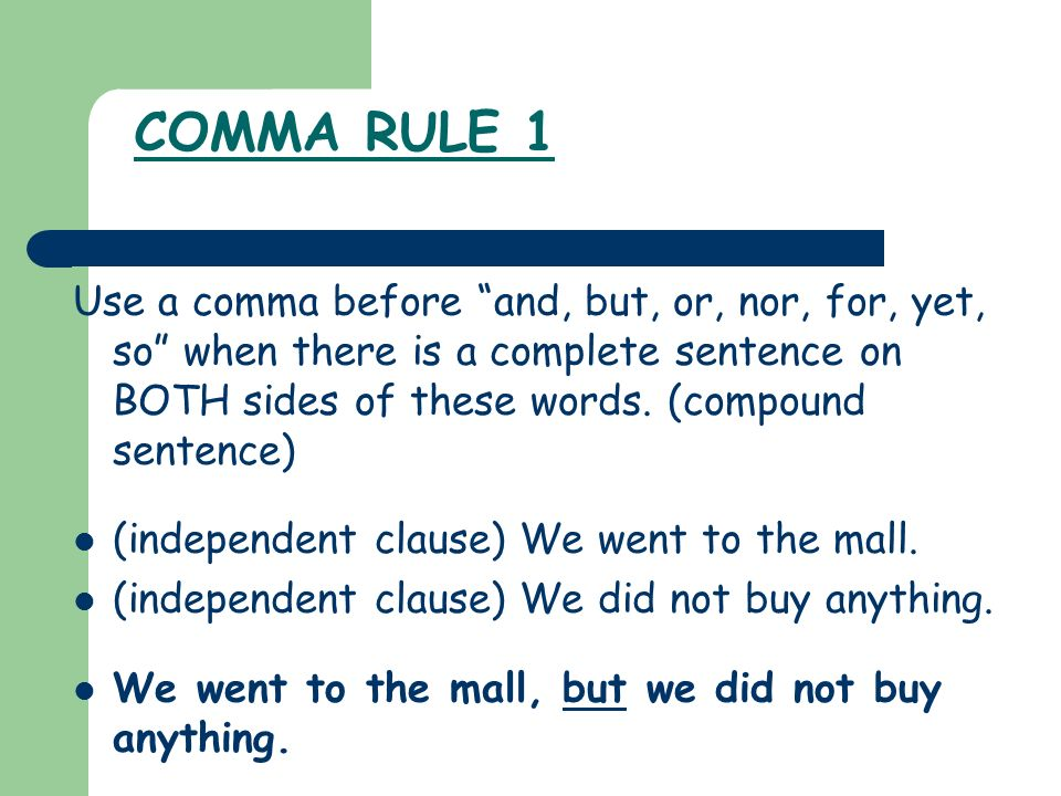 Comma Rules! - ppt download - comma and and