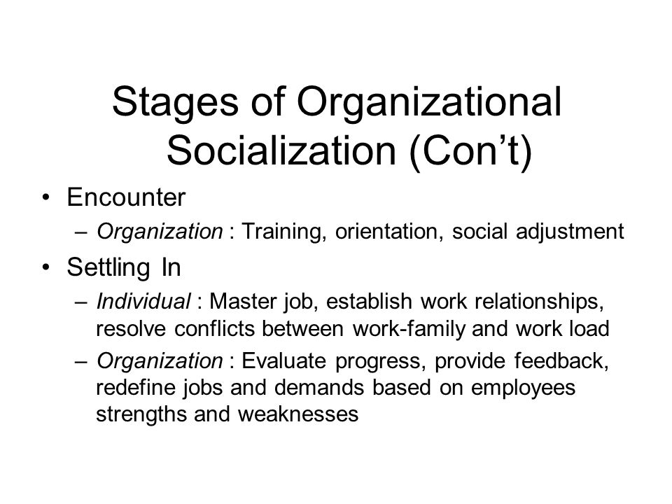 stages of career management