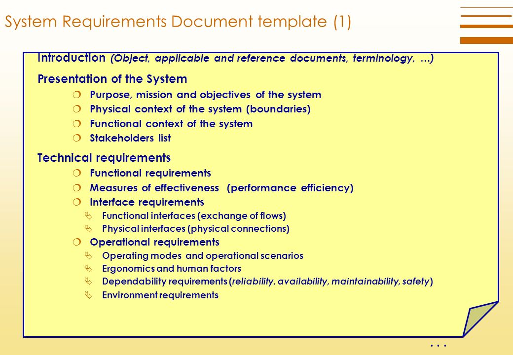 Technical Requirements Definition Process Ppt Download