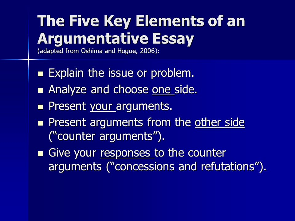 Elements of argumentative essay ppt Coursework Writing Service - essay writing elements