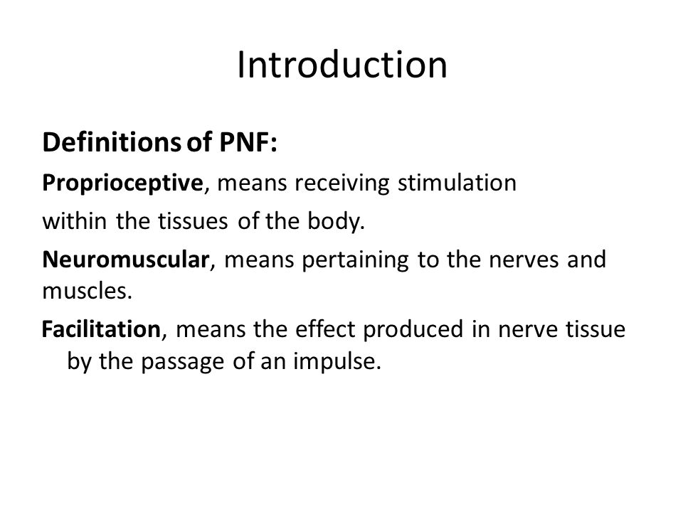 Proprioceptive neuromuscular facilitation (PNF) RHS ppt video online