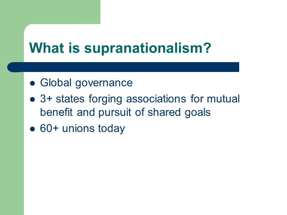 Devolution or Supranationalism? - ppt video online download