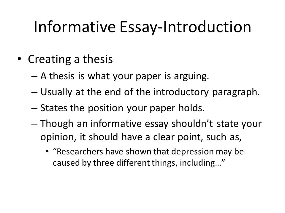 Informative Essay- An Introduction - ppt video online download - informative essay