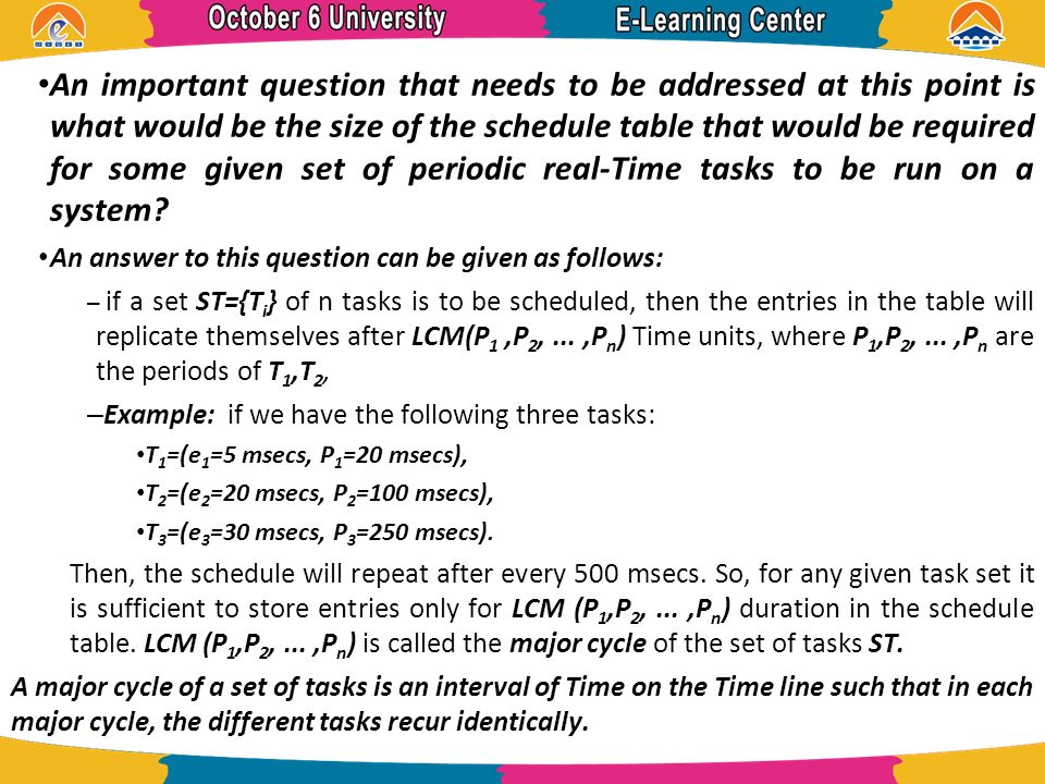 Clock Driven Scheduling - ppt video online download