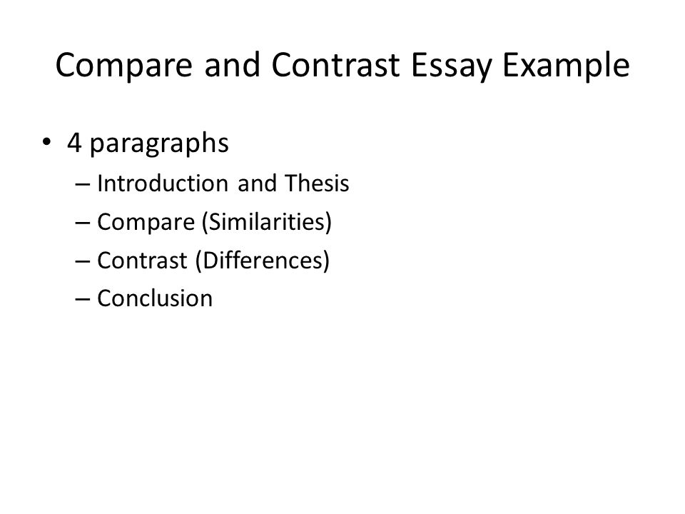 Sample Introduction Paragraph Comparison Essay - How to Write a