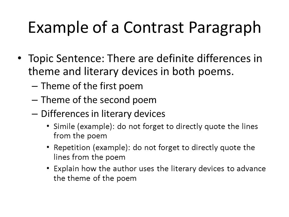 Compare and Contrast Essay Example - ppt video online download