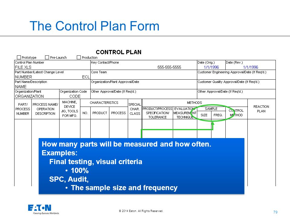 Aiag Control Plan Template aiag control plan sample 7 control plan