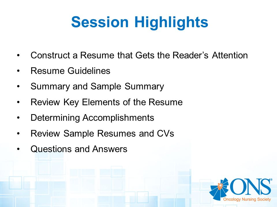 Resume Writing Workshop Creating a Winning Resume - ppt video - chemotherapy nurse sample resume